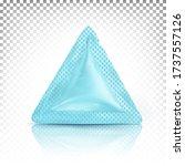 triangular mini bag  sachet ... | Shutterstock .eps vector #1737557126