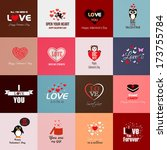 happy valentines day cards.... | Shutterstock .eps vector #173755784