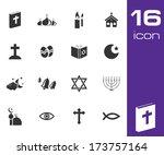 vector black religion icons set ...   Shutterstock .eps vector #173757164