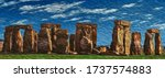 Standing Stones Arranged In A...