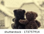 bears in love's embrace ... | Shutterstock . vector #173757914