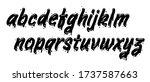 vector graffiti typeface. brush ... | Shutterstock .eps vector #1737587663