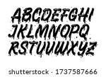 vector graffiti typeface. brush ... | Shutterstock .eps vector #1737587666