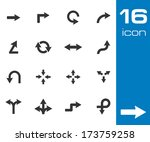 Vector Black Icon Arrows Icons...