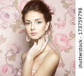 glamour portrait of beautiful... | Shutterstock . vector #173759798