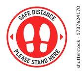 social distancing. billboard... | Shutterstock .eps vector #1737624170