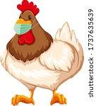 chicken cartoon character... | Shutterstock .eps vector #1737635639