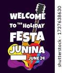 festa junina  vector... | Shutterstock .eps vector #1737638630