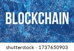 blockchain theme with abstract... | Shutterstock . vector #1737650903