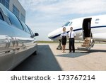 flight attendant and pilot... | Shutterstock . vector #173767214
