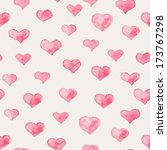 seamless pattern with hearts | Shutterstock .eps vector #173767298