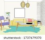 interior of living room. vector ... | Shutterstock .eps vector #1737679370