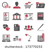 office and business icons | Shutterstock .eps vector #173770253