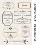 set of ornate vector frames and ...   Shutterstock .eps vector #1737702806