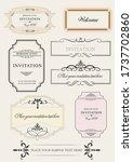 set of ornate frames and... | Shutterstock . vector #1737702860