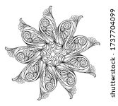 vector abstract black and white ... | Shutterstock .eps vector #1737704099