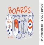 board gangster slogan with... | Shutterstock .eps vector #1737718403