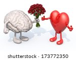 human brain with arms and legs  ... | Shutterstock . vector #173772350