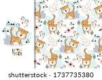 tiger baby jungle animal... | Shutterstock .eps vector #1737735380