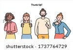 people of various races are... | Shutterstock .eps vector #1737764729