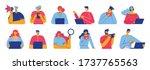 set of people  men and women...   Shutterstock .eps vector #1737765563
