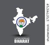 aatm nirbhar bharat  ... | Shutterstock .eps vector #1737795719