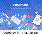 pharmacy background  pharmacy... | Shutterstock .eps vector #1737806189