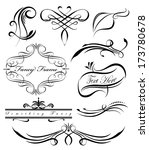 fancy scrolls and borders | Shutterstock .eps vector #173780678