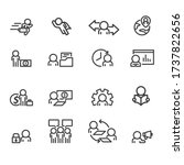 business and office icons set... | Shutterstock .eps vector #1737822656