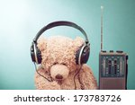 Retro Toy Teddy Bear With...