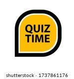 quiz time sign on white... | Shutterstock .eps vector #1737861176