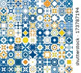 seamless mosaic pattern made of ... | Shutterstock .eps vector #173787194