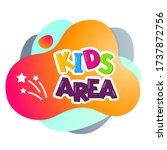 kids area vector cartoon banner.... | Shutterstock .eps vector #1737872756