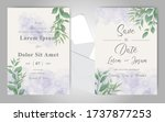 elegant wedding invitation... | Shutterstock .eps vector #1737877253