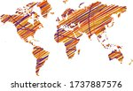 the continents are colored....   Shutterstock .eps vector #1737887576