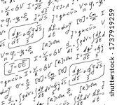 physics formulas handwritten... | Shutterstock .eps vector #1737919259