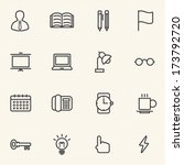 business office icon set | Shutterstock .eps vector #173792720