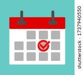 calendar icon   mark the date ... | Shutterstock .eps vector #1737940550
