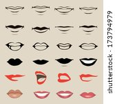 vector lips and mouth  ... | Shutterstock .eps vector #173794979