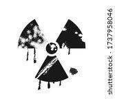 radioactivity danger sign made... | Shutterstock .eps vector #1737958046
