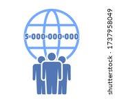 vector illustration  new number ... | Shutterstock .eps vector #1737958049