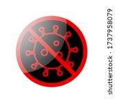 stop or no virus vector... | Shutterstock .eps vector #1737958079