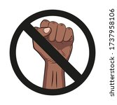 symbol of not allowed protest... | Shutterstock .eps vector #1737958106