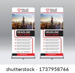 roll up banner design template  ... | Shutterstock .eps vector #1737958766