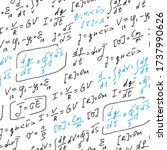 physics formulas handwritten... | Shutterstock .eps vector #1737990626