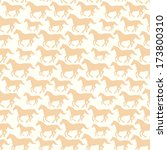 seamless pattern with hand... | Shutterstock . vector #173800310