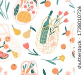 net bag seamless pattern.... | Shutterstock .eps vector #1738010726