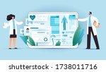 medical full body screening... | Shutterstock .eps vector #1738011716