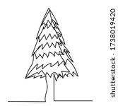 christmas tree  isolated ... | Shutterstock .eps vector #1738019420