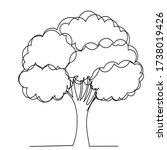 continuous line drawing tree... | Shutterstock .eps vector #1738019426